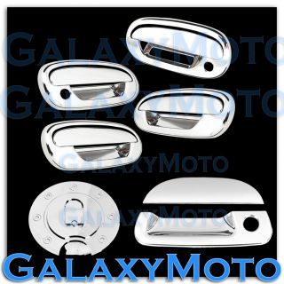 97 03 Ford F150 Triple Chrome 4 Door Handle Keypad w PSG KH Tailgate Gas Cover