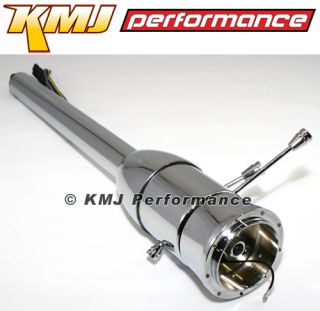 "Chevy Pontiac GM Style Hotrod Chrome Steering Column Floor Shift 28"" Universal"