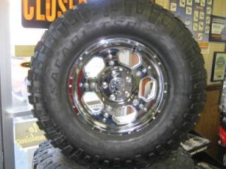"07 13 Jeep Wrangler Lifted 17"" Chrome Liquidmetal Wheels 35"" Kelly Safari Tires"