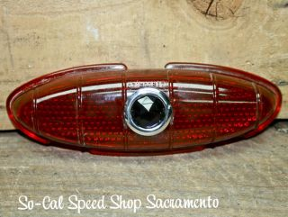 1949 1950 Ford Tail Light Lens Blue Dot Hot Rod Rat Custom Street Vtg Style