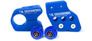 TM Designworks Slide N Guide Kit Blue for Yamaha Banshee Raptor 350 Warrior 350