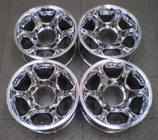 "American Racing Ford F250 F350 16"" Aftermarket Chrome Wheels Rims 4"