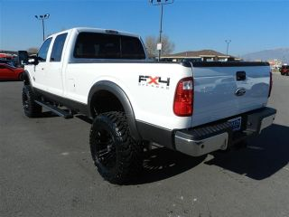 Ford Crew Cab Powerstroke Diesel Lariat 4x4 Custom New Lift Wheels Tires Auto