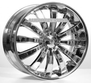 "22"" VT 225 CH Wheels and Tires Rims for Chevy Tahoe Escalade Yukon RAM Ford"