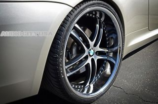 "22"" x15 BM for BMW Wheels and Tires Staggered Rims 5 6 7 Series 645 650 745 750"