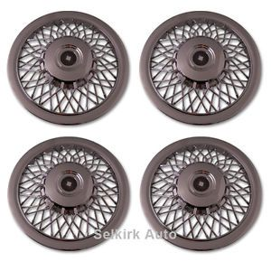 "New Replacement Aftermarket Chrome Wire Spoke 15"" inch Hub Caps Wheel Rim Covers"