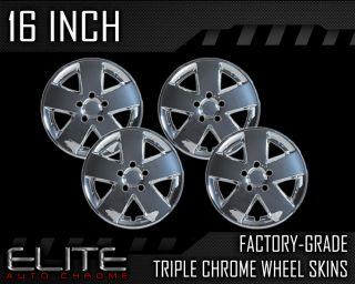 "2007 2009 Ford Fusion 16"" Chrome Wheel Skin Covers"