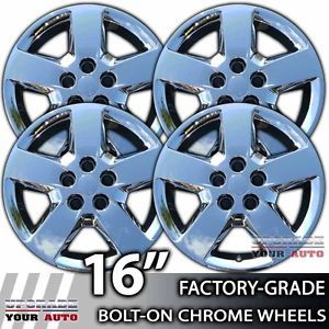 "2008 2012 Chevy Malibu 16"" Chrome Bolt on Hubcaps Wheel Covers"