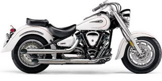 Cobra Exhaust Slip on Slashcut Chrome Yamaha Road Star 1700 2004 2007