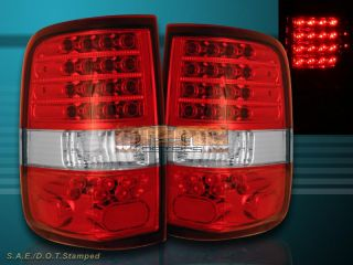 04 08 Ford F 150 F150 Tail Lights Red Clear Styleside LED