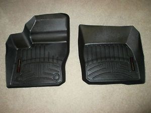 WeatherTech Floor Mats for 2012 2014 Ford Focus Front Only Black