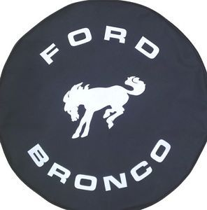 Sparecover® Brawny Series Ford Bronco 33 Black Denim Textured Vinyl Tire Cover