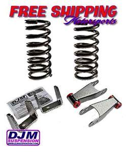 "1998 2011 Ford Ranger DJM3098 2 3 2""F 3""R lowering Drop Kit Coils Flip Kit"