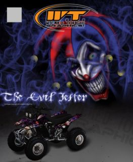 "Yamaha YFM350 Warrior Decals Graphics ""The Evil Jester"""