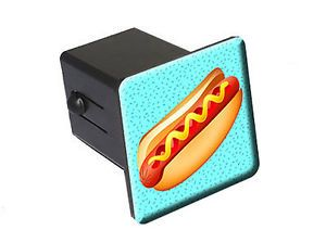 "Hot Dog Food Love 2"" Tow Trailer Hitch Cover Plug Insert"