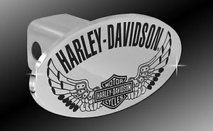 Harley Davidson Trailer Tow Hitch Cover Plug with 3D Decorative Emblem