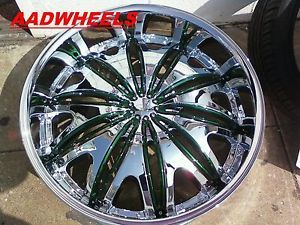 "Velocity V820 26"" Wheels Rims Tires Fitchevy Cadillac GMC Ford Old School Cars"