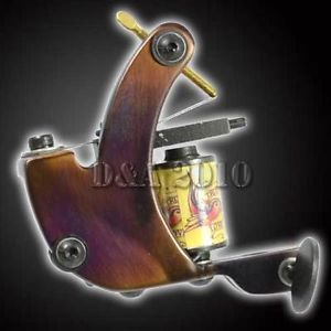 Pro 8 Wrap Coils Powerful Handmade Tattoo Machine Gun Liner Shader Mild Steel