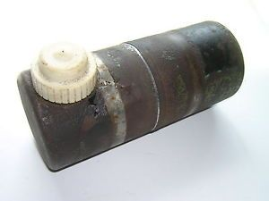 Vintage Round Metal Gas Tank Possible Minibike Water Pump Lawn Mower Tank