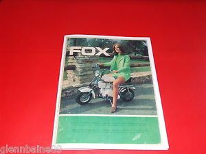 Vintage Fox Minibike Dealer Catalog 8 11 Pages Reproduction