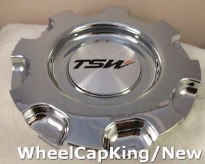TSW Wheels Chrome Custom Wheel Center Cap Caps Cap 8762 New