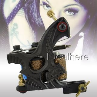 Brand New Black Frame Cast Iron Tattoo Machine Gun for Shader 10 Coils 13