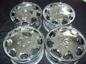 "16 x 8 "" Set Mercedes Benz Chrome Wheels Rims Factory Stock E Class 65151"