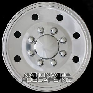 "4 Chrome Ford Truck Van 16"" 8 Lug Wheel Covers Rim Full Hub Caps Fit Steel Rims"