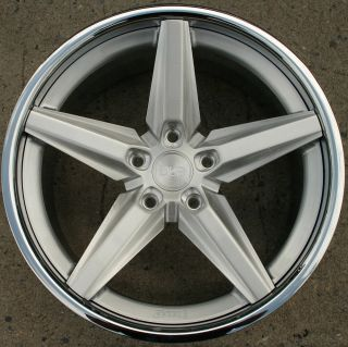 Dub Lace Y634 20 x 10 Brushed Silver Rims Wheels Volkswagen Touareg