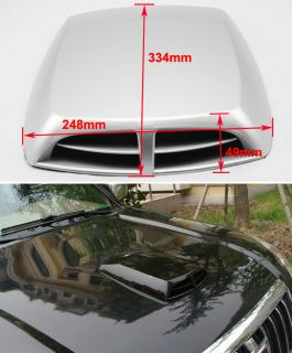 New Universal Car Decorative Air Flow Intake Scoop Turbo Bonnet Vent Cover Hood