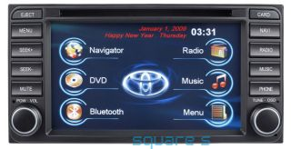 Toyota in Dash GPS Navigation DVD Radio Bluetooth Touch Screen  USB Receiver