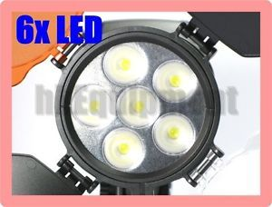 LED 5010 6 LED Video Light DV Camera Camcorder Battery