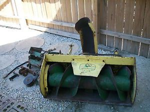 John Deere Snow Blower Attachment w Mule Drive Brackets for Lawn Tractor