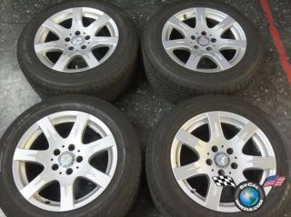 "Four 08 09 Mercedes MBZ E E320 Factory 16"" Wheels Tires Rims 85007 W211"