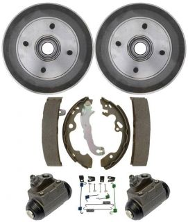 2000 2007 Focus Rear Drum Wheel Bearing Brake Shoe Springs Wheel Cylinders Kit