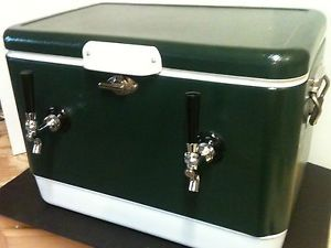 Green Steel Belted Draft Keg Beer Jockey Box Cooler Kegerator 70 ft Coils New