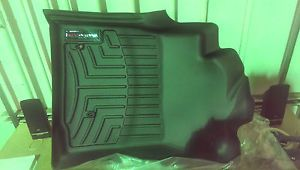 Toyota Tacoma 2005 2011 Black WeatherTech Floor Mats Front