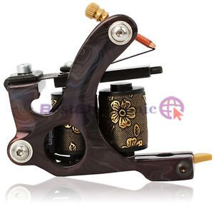 New 8 Wrap Coils Handmade Tattoo Machine Liner Gun Black Iron HB WGD046