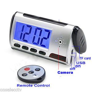 New Hidden Camera Alarm Clock Digital Video Remote Control CCTV Security Camera