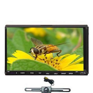 "Double 2 DIN 7"" in Dash Motorized Car DVD Player Road Media Touch Screen Camera"