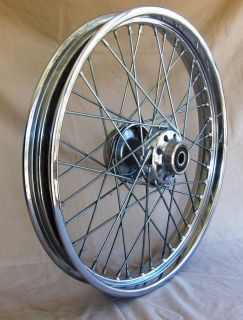 "Harley 21"" Laced Chrome Front Wheel 43671 00"