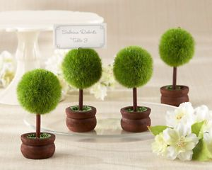 96 Garden Topiary Tree Outdoor Spring Wedding Place Card Photo Holder Favors