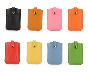 Women Real Leather iPhone 4 Case Bag Snap Cellphone Mobile Card Coin Purse Cover