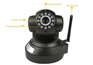 Wireless Wi Fi Night Vision Remote Control Motion Detection Webcam IP Camera