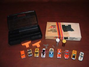 Aurora AFX Slot Cars and Carrying Case