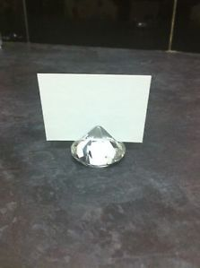 Diamond Crystal Place Card Holders Pack of 6