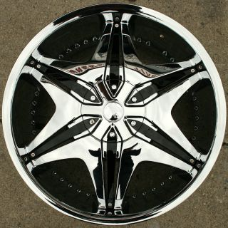 "Akuza Big Papi 712 20"" Chrome Rims Wheels Toyota Camry 92 Up 20 x 8 5 5H 35"