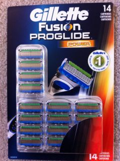 14 Gillette Fusion Proglide Power Razor Blade Cartridges