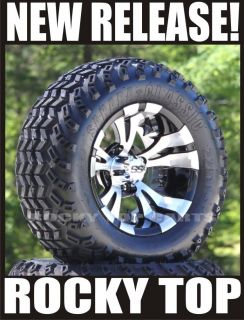 "New Golf Cart 12"" Aluminum Wheels and All Terrain Tires"