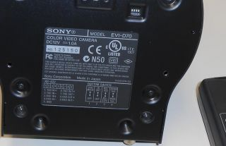 Sony EVI D70 Pan Tilt Zoom Color Video Camera Remote Wall Mount EVID70